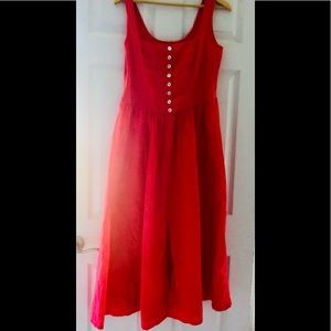 ColdWater Creek coral prairie tiered sundress